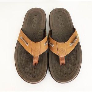 Sperry Leather Flip Flops